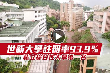 【影】世新大學註冊率93.9% 私立綜合性大學第一名